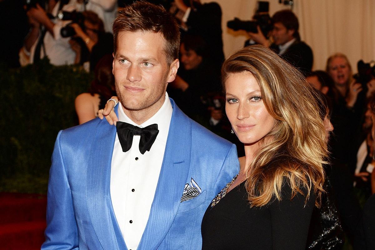 Gisele Bündchen ao lado do marido, Tom Brady (Foto: Divulgação)