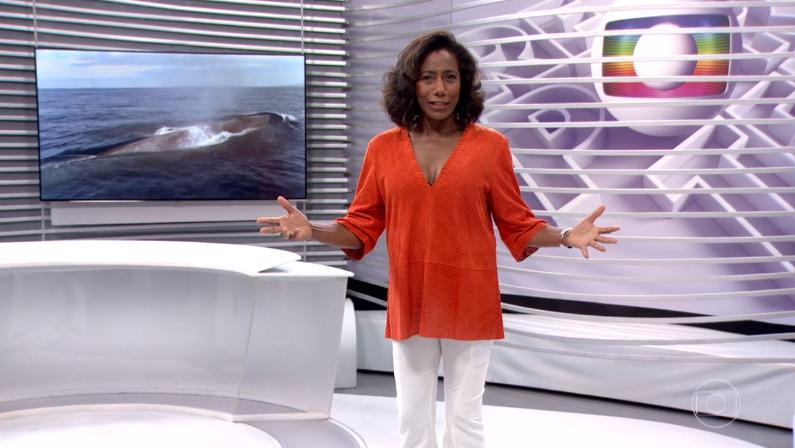 """Glória Maria no comando do """"Globo Repórter"""" (Foto: Reprodução/Globo)"""