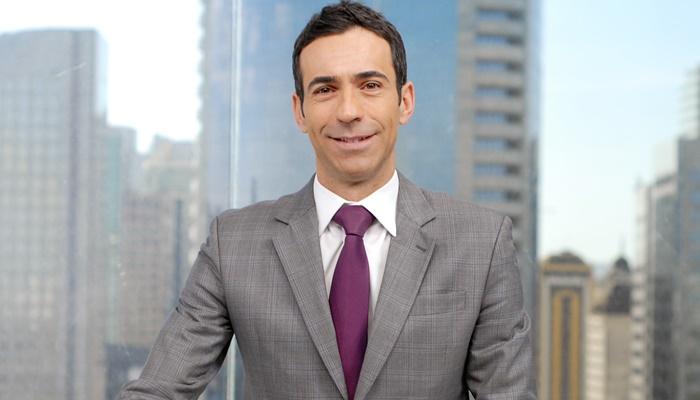 """Cesar Tralli no """"SPTV 1ª Edição"""" (Foto: Globo/Zé Paulo Cardeal)"""