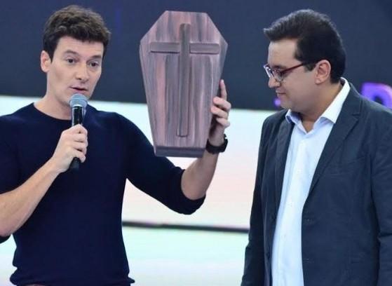 """Segundo boatos, Rodrigo Faro e Geraldo Luís têm um desentendimento após """"roubo"""" de pautas (Foto: Reprodução)"""