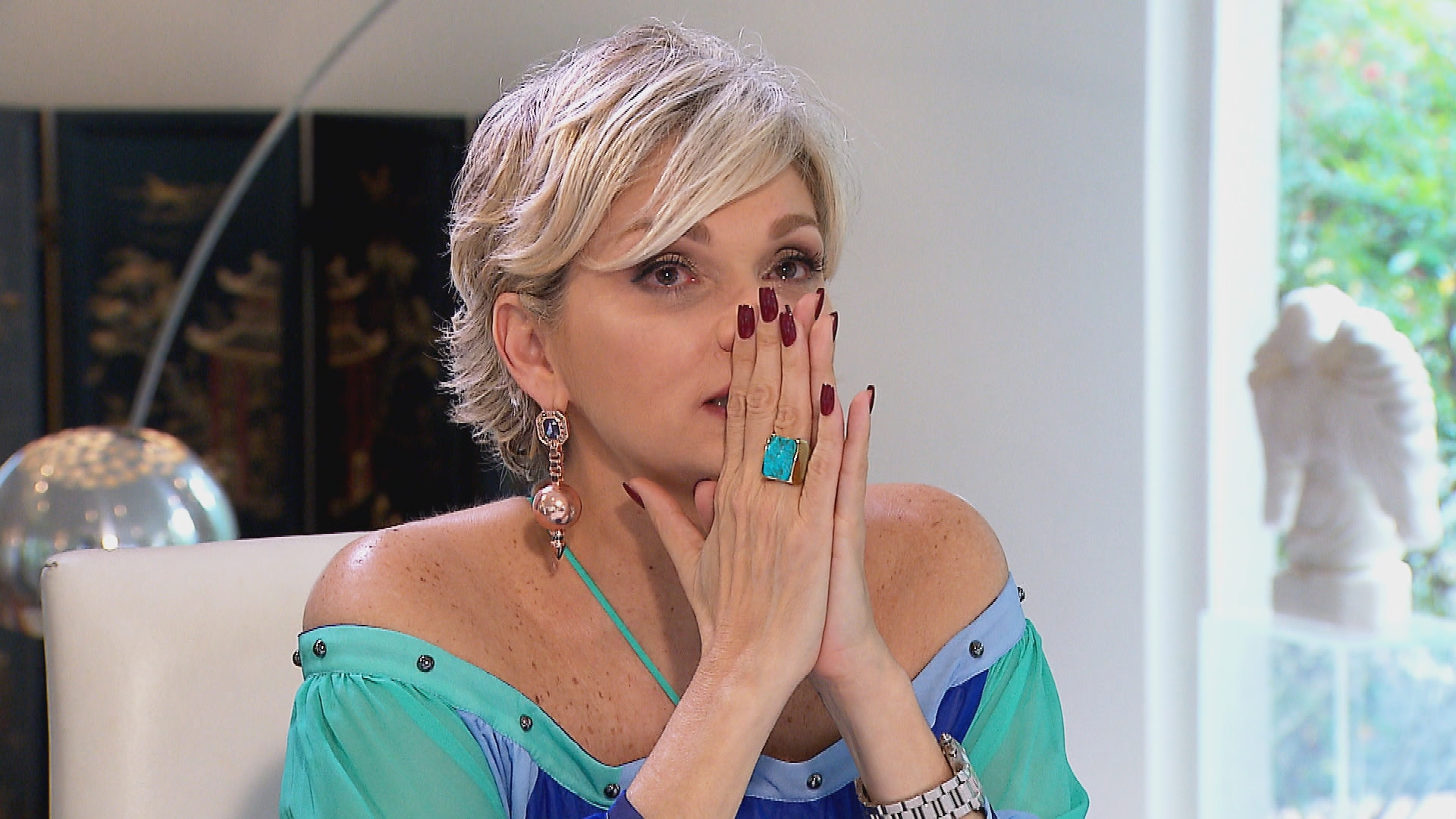 Andréa de Nóbrega em entrevista a Gugu (Foto: Divulgação/Record)