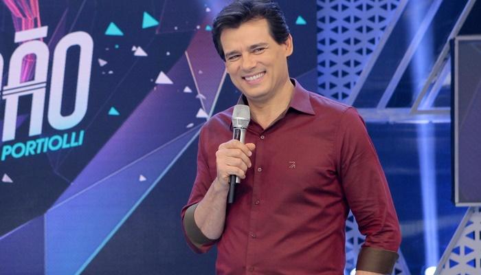 """Celso Portiolli no """"Sabadão"""" (Foto: Lourival Ribeiro/SBT)"""