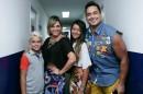 Xandy, Carla Perez e os dois filhos (Foto Caras)