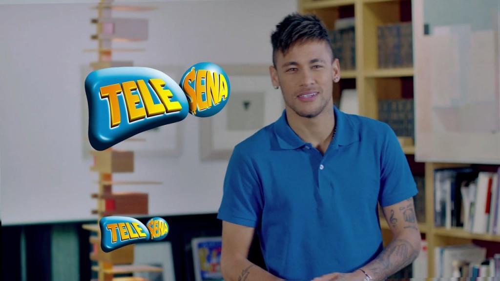 Neymar em campanha da Tele Sena de Mães. (Foto: Reprodução)