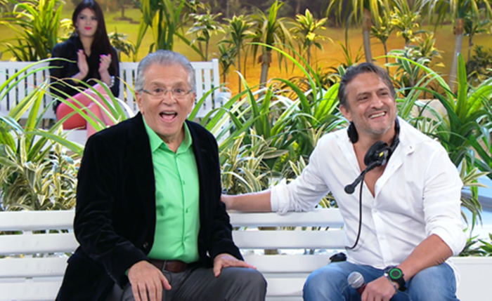 Carlos Alberto de Nóbrega ao lado do filho, Marcelo de Nóbrega. (Foto: Divulgação)