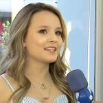 Larissa Manoela em entrevista (Foto divulgação)