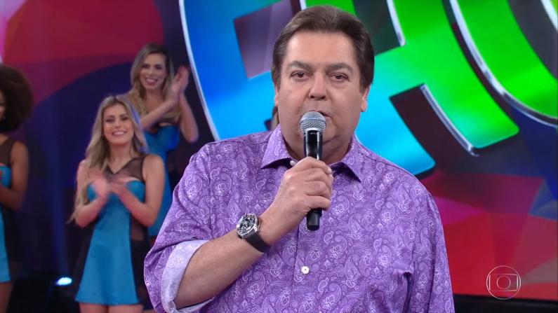 """Faustão no comando do """"Domingão"""" (Foto: Reprodução/Globo)"""