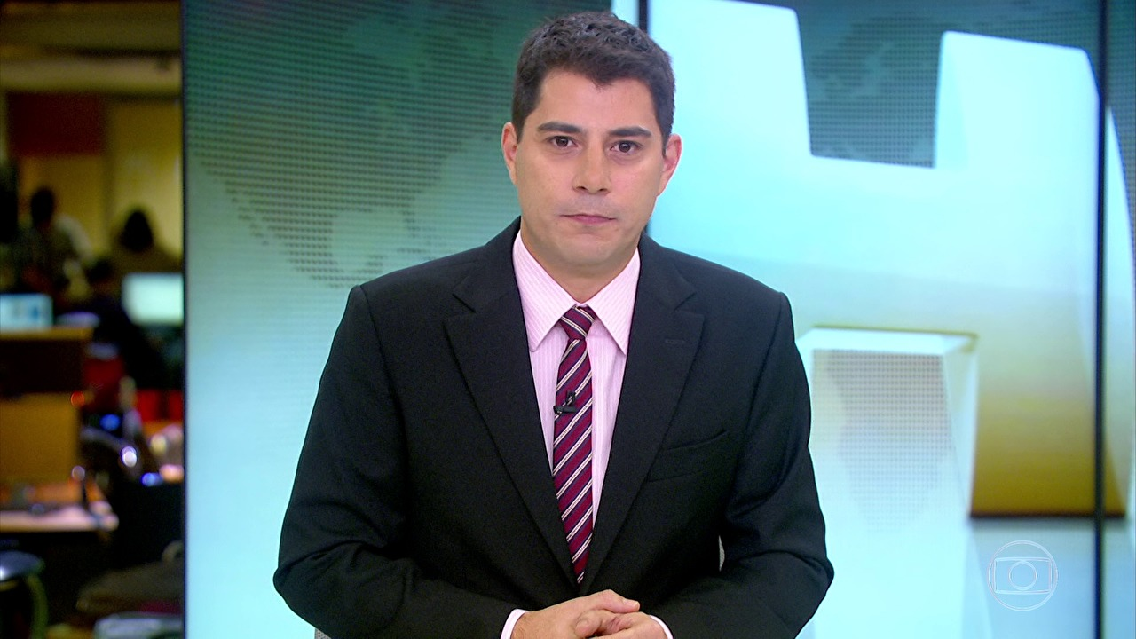 "Evaristo Costa no ""Jornal Hoje"" (Foto: Reprodução/Globo)"