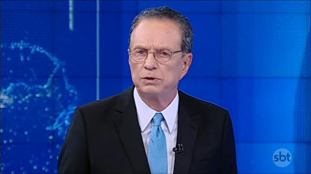 """Hermano Henning no """"Jornal do SBT"""" (Foto: Reprodução/SBT)"""