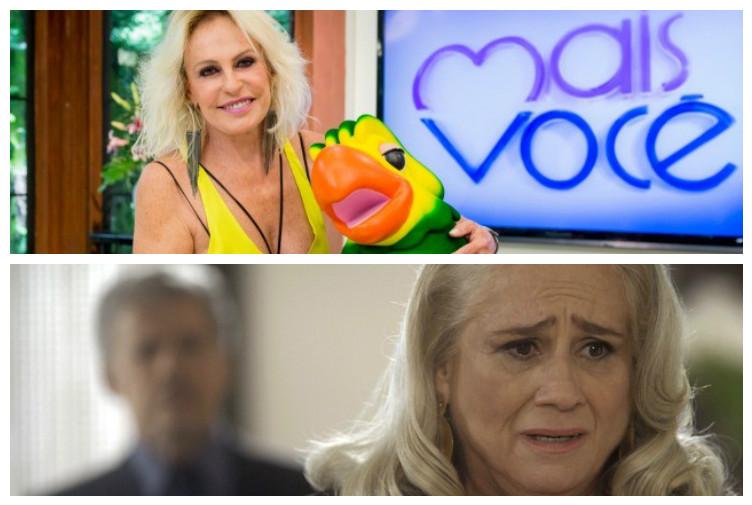 Ana Maria Braga e A Lei do Amor no Subiu, desceu! (Foto montagem)