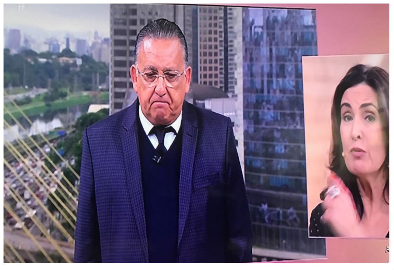 Galvão Bueno se emocionou durante o programa Encontro (Foto reprodução)