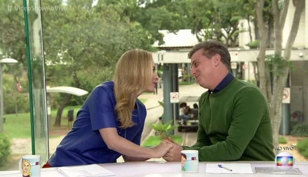 Luciano Huck e Angélica chegaram a apresentar o Vídeo Show juntos (Foto: Reprodução)