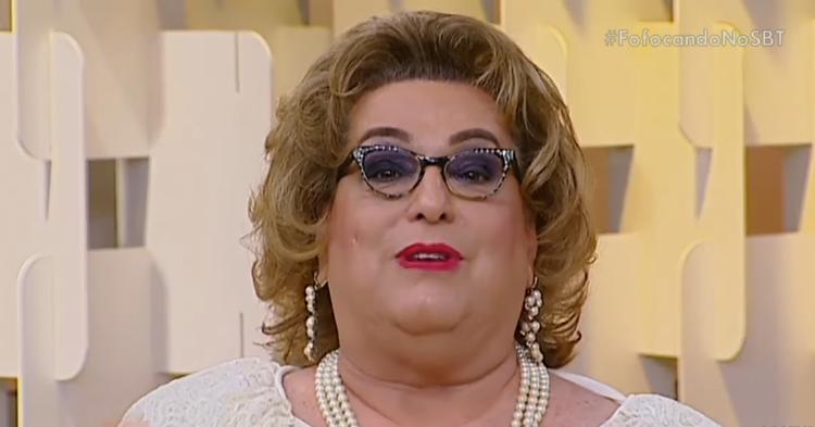 """Mamma Bruschetta no """"Fofocando"""" (Foto: Reprodução/SBT)"""