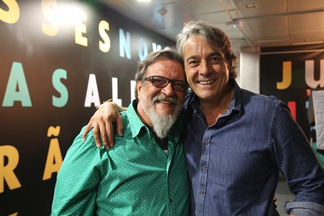 Alexandre Borges e Luís Melo (Foto: Globo/Paulo Belote)