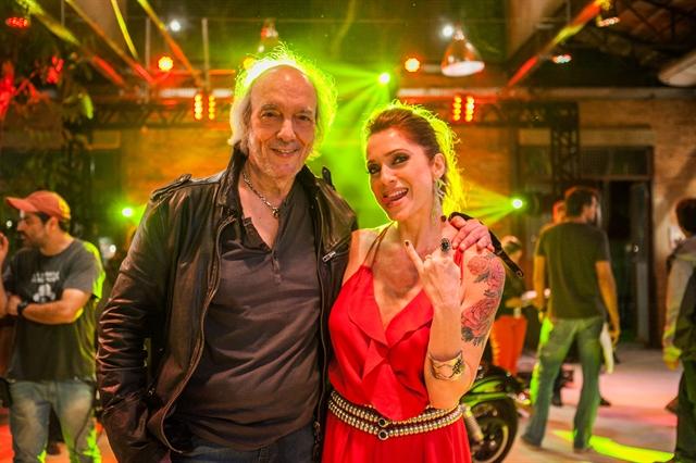 Erasmo Carlos e Leticia Spiler (Lenita) (Foto: Globo/Raquel Cunha)