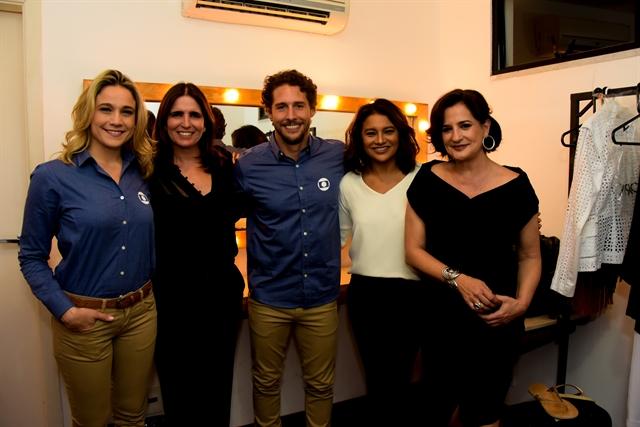 Fernanda Gentil, Malu Mader, Flávio Canto, Dira Paes e Mônica Waldvogel (Foto: Globo/César Alves)