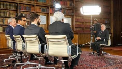 """""""Roda Viva"""" foi alvo de críticas por entrevista com Michel Temer. (Foto: Divulgação)"""