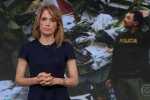 """Poliana Abritta no comando do """"Fantástico"""" (Foto: Reprodução/Globo)"""