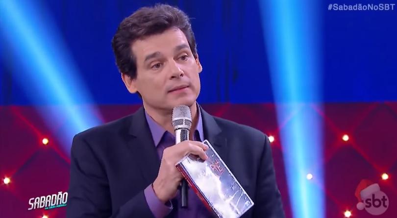 """Celso Portiolli no """"Sabadão"""" (Foto: Reprodução/SBT)"""