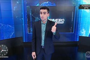 """Dudu Camargo no """"Primeiro Impacto"""" (Foto: Reprodução/SBT)"""