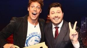 """Fábio Porchat e Danilo Gentili no """"The Noite"""" (Foto: Divulgação)"""