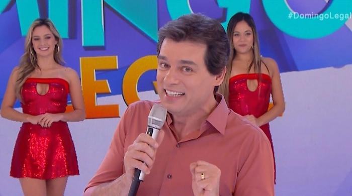 """Celso Portiolli no último """"Domingo Legal"""" inédito (Foto: Reprodução/SBT)"""