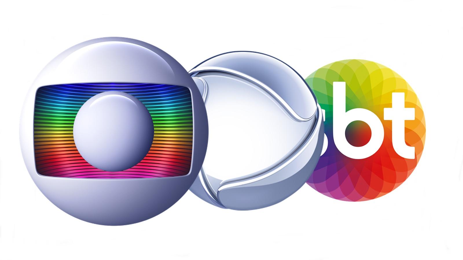 Globo, Record e SBT (Foto: Reprodução)