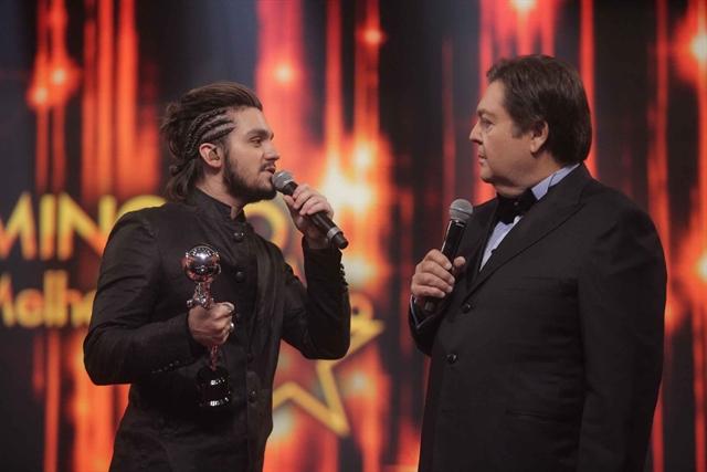 Faustão e Luan Santana (Foto: Globo/Divulgação)
