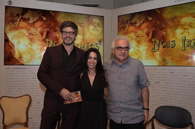 Luiz Fernando Carvalho, Maria Camargo e Milton Hamoud (Foto: Globo/Estevam Avellar)