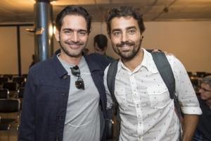 Workshop da novela 'Novo Mundo' - O diretor artístico Vinicius Coimbra e Ricardo Pereira (Foto: Globo/Mauricio Fidalgo)