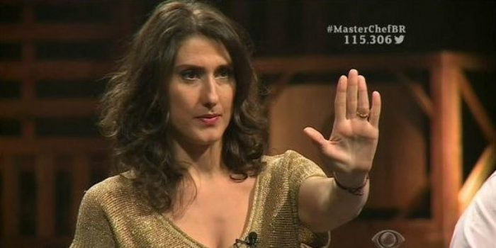"""Paola Carosella no """"MasterChef"""", na Band (Foto: Reprodução/Band)"""