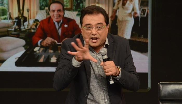 "Geraldo Luís no ""Programa do Porchat"" (Foto: Antonio Chahestian/Record)"