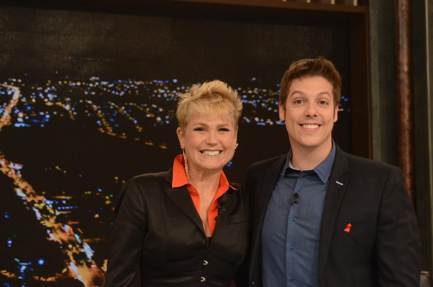 Xuxa no Programa do Porchat (Foto Record TV)