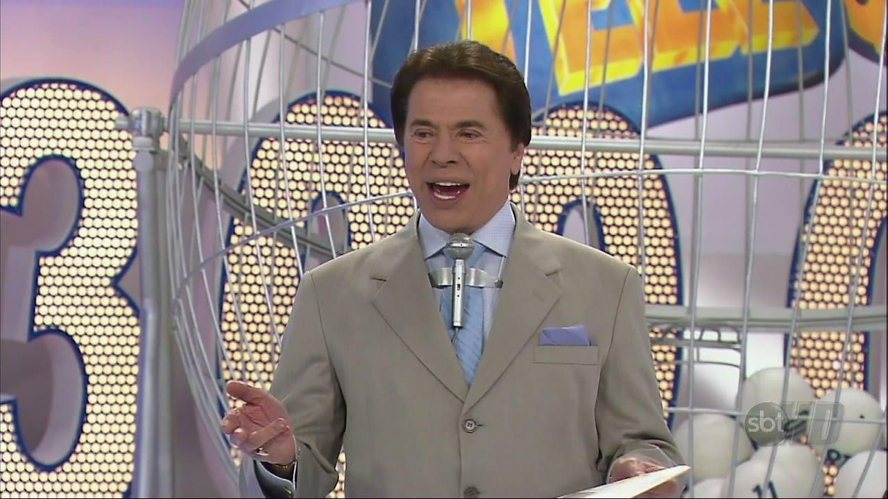 Silvio Santos durante sorteio da TeleSena (Foto: Reprodução/SBT)