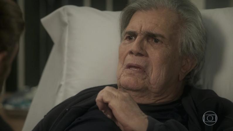 """Fausto (Tarcísio Meira) em cena de """"A Lei do Amor"""" (Foto: Reprodução/Globo)"""