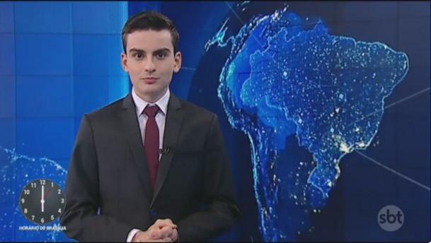 """Dudu Camargo no """"SBT Notícias"""" (Foto: Reprodução/SBT)"""