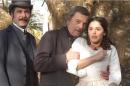"""Leopoldo Pacheco (Leôncio), Rubens de Falco (Almeida) e Bianca Rinaldi (Isaura) em """"A Escrava Isaura"""" (Foto: Divulgação/Record)"""