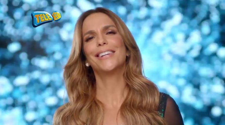 Ivete Sangalo em comercial da TeleSena (Foto: Reprodução)
