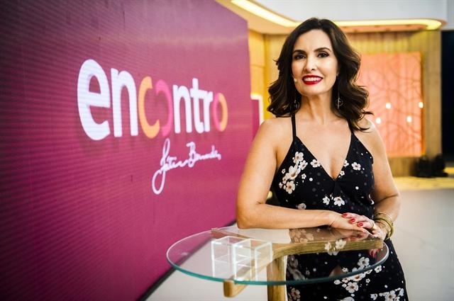 """Fátima Bernardes no """"Encontro"""" (Foto: Globo/João Miguel Júnior)"""
