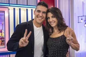 André Marques e Thalita Rebouças, apresentador e repórter do 'The Voice Kids' (Foto: Globo/Mauricio Fidalgo)