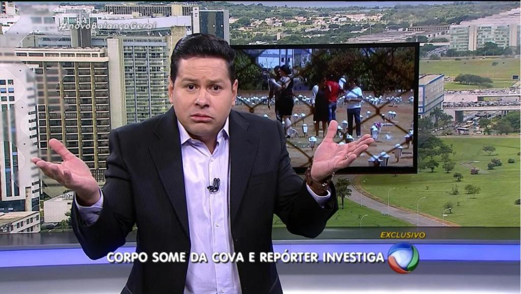 """Marcão do Povo durante o """"Balanço Geral DF"""" (Foto: Reprodução/Record)"""