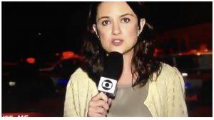 Repórter fazia link ao vivo quando foi agredida (Foto reprodução)