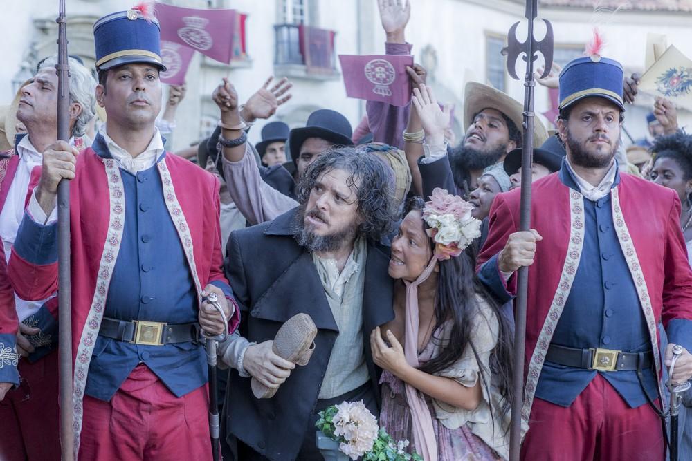 """Guilherme Piva e Vivianne Pasmanter interpretam o casal Licurgo e Germana em """"Novo Mundo"""" (Foto: Ellen Soares/ Gshow)"""