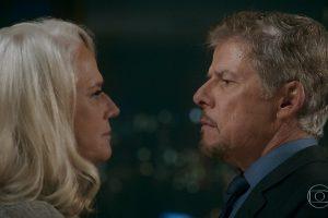 """Magnólia (Vera Holtz) e Tião (José Mayer) em cena de """"A Lei do Amor"""" (Foto: Reprodução/Globo)"""
