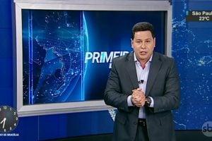 """Marcão do Povo em sua estreia no """"Primeiro Impacto"""", no SBT (Foto: Reprodução/SBT)"""