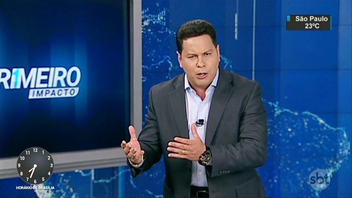 """Marcão do Povo em sua estreia no """"Primeiro Impacto"""" (Foto: Reprodução/SBT)"""