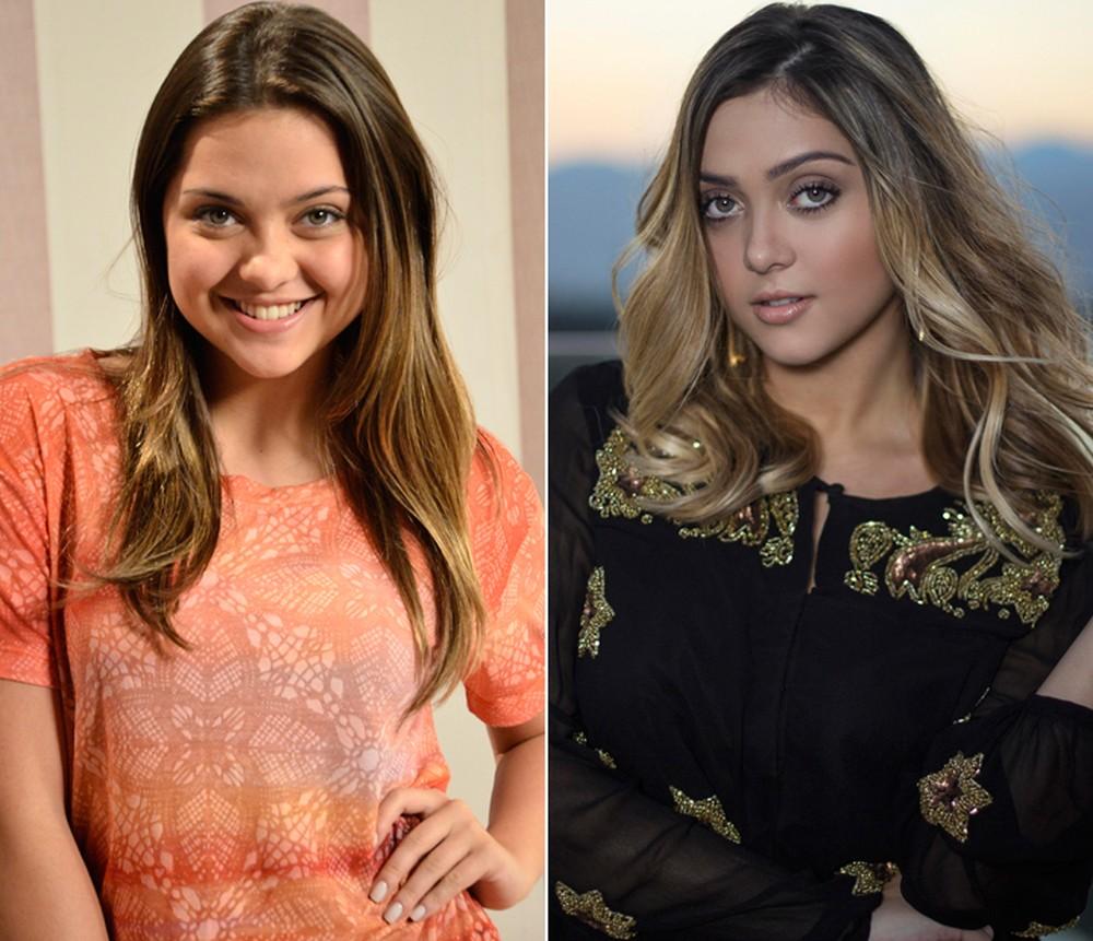 """Antes e depois da atriz: em """"Cheias de Charme"""" e hoje em dia (Foto: Aquila Bersont/Arquivo Pessoal)"""
