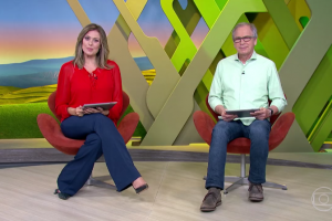 """Helen Martins e Nélson Araújo apresentam o """"Globo Rural"""" (Foto: Reprodução/Globo)"""