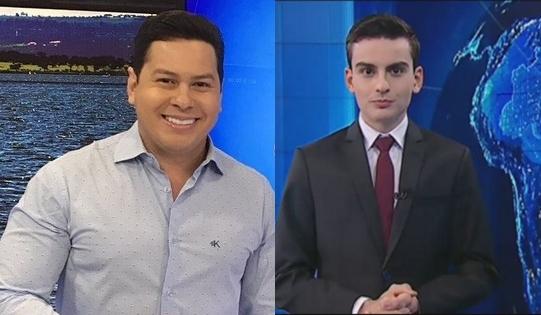 """Marcão do Povo e Dudu Camargo, apresentadores do """"Primeiro Impacto"""" (Foto: Divulgação/Reprodução SBT/Montagem)"""