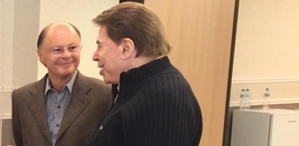 Silvio Santos em visita a Edir Macedo (Foto reprodução)